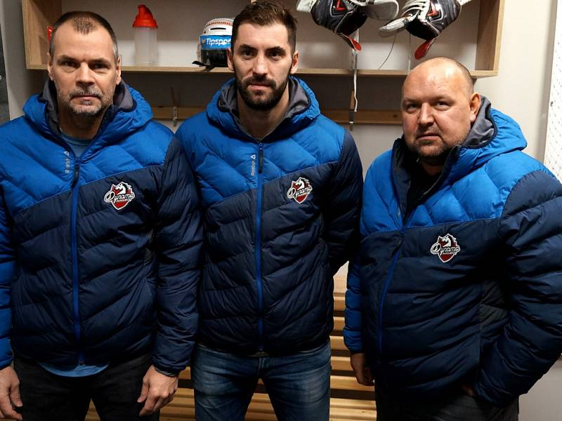 Zleva Richard Král, Petr Čáslava a Ladislav Lubina.