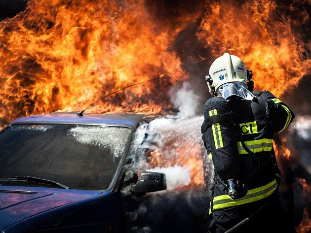 Den otevřených dveří na centrální hasičské stanici v Pardubicích.