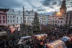 Rozsvěcení vánočního stromu na pardubickém Pernštýnském náměstí.