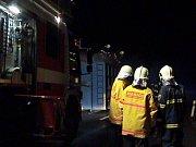 Bohdanečtí hasiči zasahovali i u požáru velkoobjemového kontejneru s odpadem, který se vznítil za jízdy na nákladním vozidle.