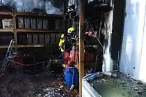 Na Krajské operační a informační středisko HZS Pardubického kraje byl v neděli v 8.55 hodin oznámen požár ve skladu v Hrobicích.