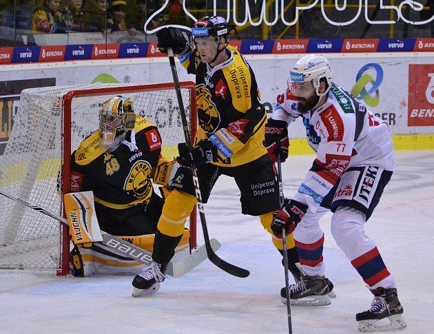 Hokejová extraliga Litvínov - Pardubice.