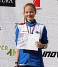 Stříbrná medailistka mezi mladšími dorostenkami Tereza Fejfarová.