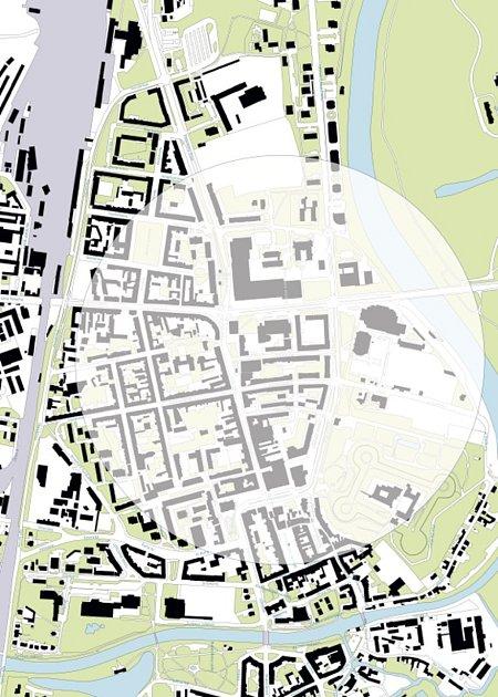 Kruh měl být symbolickou kresbou, která by propojila areál bývalé Prokopky, centrum města a galerii na Příhrádku. Nyní musejí umělci čáry smýt.