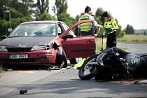 Nehoda 17letého motorkáře u Štěpánova.