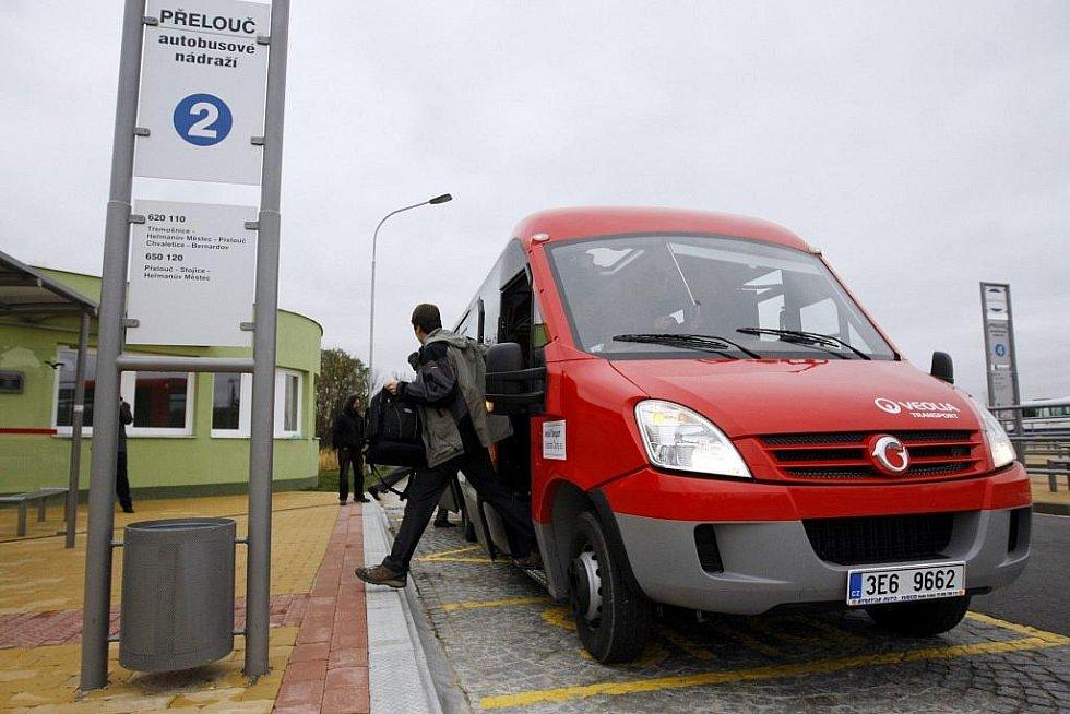 Minibusová linka. Ilustrační foto.