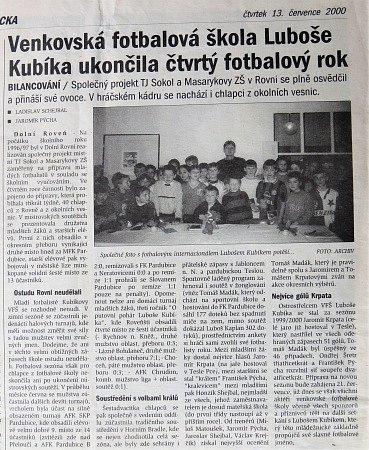 Z archivu. Na slovíčko s Na slovíčko s fotbalovým expertem Lubošem Kubíkem, internacionálem ČR.