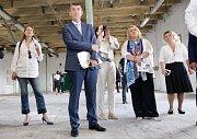 Návštěva Vlády ČR v Pardubickém kraji, návštěva Winternitzových automatických mlýnů v Pardubicích.