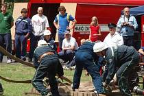 Živaničtí hasiči na soutěži.