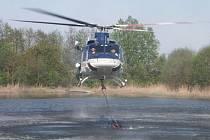 Vrtulník vypomáhal při požáru v Jankovicích.