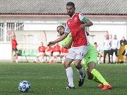 Fotbalová FORTUNA:NÁRODNÍ LIGA: FK Pardubice - FC Zbrojovka Brno.