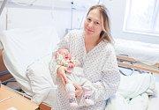 NINA HRDINOVÁ se narodila 24. ledna ve 4 hodiny a 15 minut. Měřila 50 centimetrů a vážila 3680 gramů. Maminku Jitku podpořil u porodu tatínek Robert. Rodina bydlí v Pardubicích.