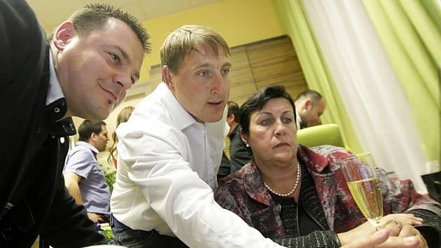 Tomáš Pelikán, René Živný a Štěpánka Fraňková