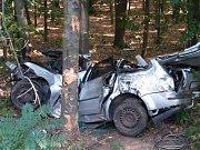 Nehoda na rychlodráze v Pardubicích