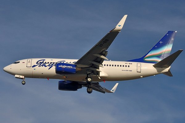 Boeing B737-700společnosti Yakutia Airlines
