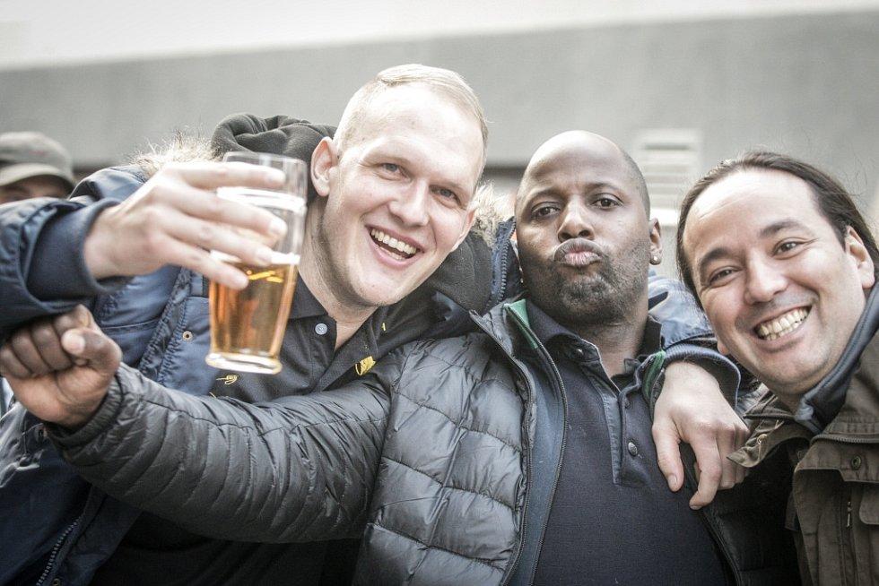 Nizozemští fanoušci v Liberci.