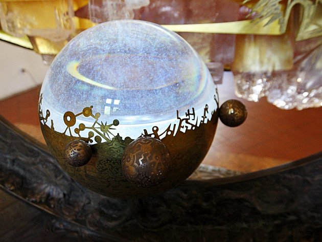 Křišťálový betlém sklářského výtvarníka Jaromíra Rybáka