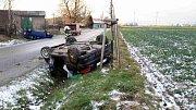 U Brtče se dvě auta střetla čelně.