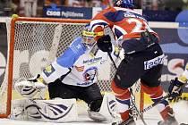 Z hokejového zápasu mezi Pardubicemi a Plzní