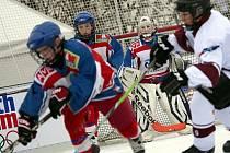 Malí pardubičtí hokejisté si v Olympijském parku dali zápas proti Spartě