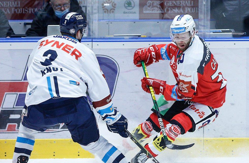 Hokejová extraliga: HC Dynamo Pardubice - Bílí Tygři Liberec.