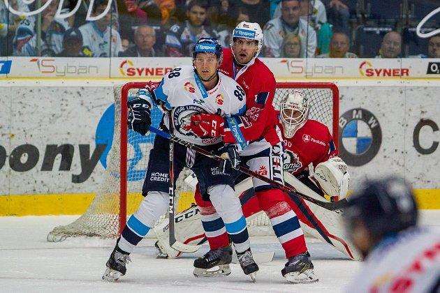 Utkání 2. kola Tipsport extraligy ledního hokeje Liberec - Pardubice (0:2).