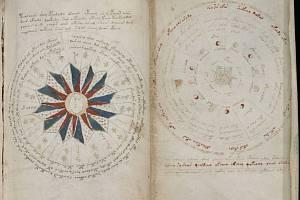 Záhadný a dodnes nerozluštěný Voynichův rukopis.