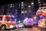 Požár bytu v Pardubicích v ulici Josefa Janáčka.