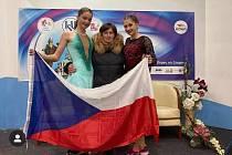 Minivýprava v Bulharsku: Krasobruslařky o sobě zase mohly dát vědět - po dlouhé době způsobené nařízenou nečinností. Zleva: Karolína Baťková, Olga Holubíková a Nikola Rychtaříková.