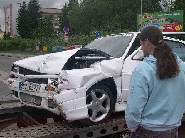 Dopravní nehoda v Pardubicích.