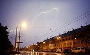 Nedělní bouře nad Pardubicemi nabídla na nebi úžasnou podívanou