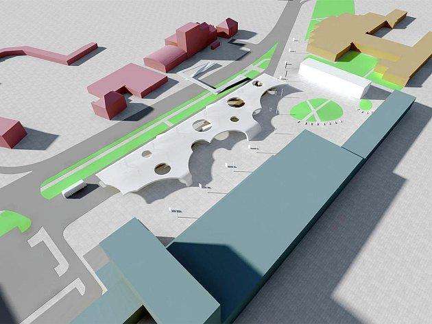 Architektonická studie řešení prostoru přednádraží