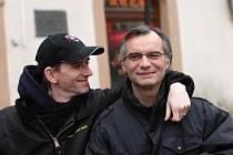 Režisér Jiří Strach a Ivan Trojan