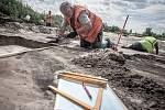 Záchranný archeologický výzkum v trase budoucí dálnice D35 u obce Rokytno.