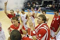 Basketbalové ukání Adriatické ligy mezi ČEZ Nymburk a Partizan Bělehrad se odehrálo v pardubické ČEZ Areně.
