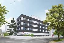 Nová budova firmy Multiscan v areálu Pardubické nemocnice.