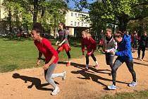 Pamela - Therese Effangová v čele běhu na přípravném kempu v Mariánských Lázních