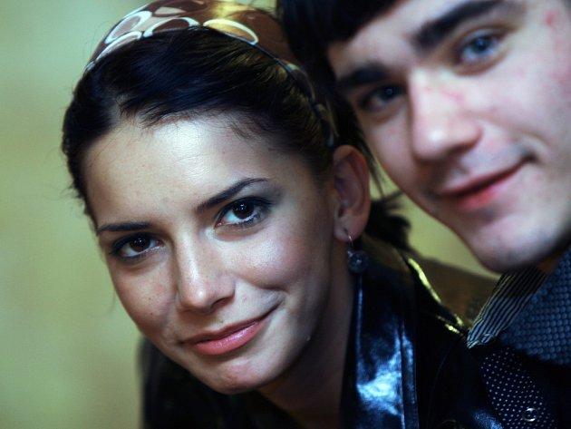 Dorota Novotná s Vojtou Kotkem