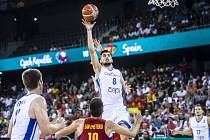 Z basketbalového duelu Česko - Španělsko na ME  2017.