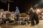 Rybova Česká mše vánoční na Pernštýnském náměstí v Pardubicích.