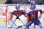 Hokejbalové utkání Mistrovství světa mezi Českou republikou a USA v pardubické Tipsport Aréně.