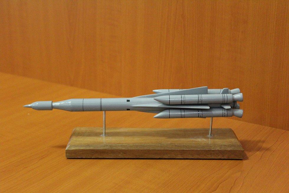 Malý model rakety typu OSA (1:40) vyráběná v 70. a 80. letech v tehdejším Sovětském svazu.