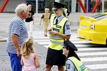 Preventivní policejní akce Zebra se za tebe nerozhlédne. Policisté se ve čtvrtek objevili i v centru města