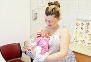 DIANA VÁGNEROVÁ se narodila 29. listopadu ve 12 hodin a 37 minut. Měřila 48 centimetrů a vážila 3030 gramů. Maminku Anetu podpořil u porodu tatínek Marek. Doma v Pardubicích na nového sourozence čeká třiapůlletá Adriana.