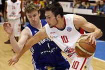 Basketbalové utkání mezi Pardubicemi a Prostějovem