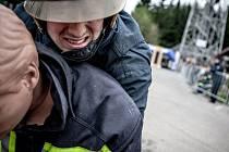 Trať hasičského závodu je sestavena z fyzicky extrémně náročných a vyčerpávajících disciplín, které hasiči absolvují v kompletní zásahové výstroji.