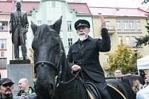 Oslavy 100let založení Československé republiky na náměstí Legií v Pardubicích.