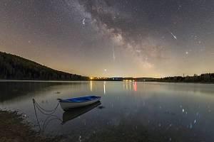 Meteory Lyridy ze souhvězdí Lyry