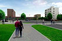 Při stavbě nového terminálu pro autobusy se vybourá část bytového domu na náměstí Jana Pernera.