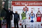 Hegnus s Lukášem Matuským zvítězili ve130. Velké pardubické se Slavia pojišťovnou, která se koná před prázdnými tribunami na pardubickém dostihovém závodišti.